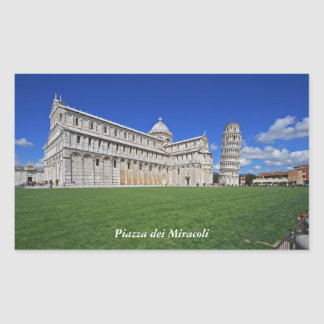 Piazza dei Miracoli Rectangular Sticker