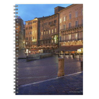 Piazza Del Campo at dusk,Siena. Notebook