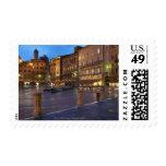 Piazza Del Campo at dusk,Siena. Postage