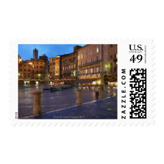 Piazza Del Campo at dusk,Siena. Postage