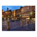 Piazza Del Campo en la oscuridad, Siena Postal