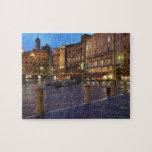 Piazza Del Campo en la oscuridad, Siena Puzzle Con Fotos