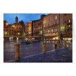 Piazza Del Campo en la oscuridad, Siena Felicitación