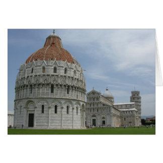 Piazza del Duomo en Pisa, Toscana, Italia Tarjeta De Felicitación