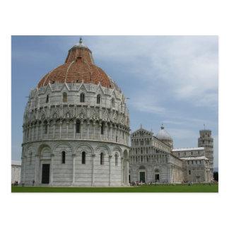 Piazza del Duomo en Pisa, Toscana, Italia Postales