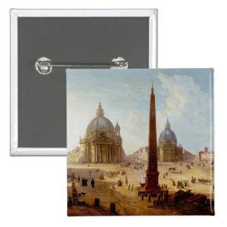 Piazza del Popolo, Rome (oil on canvas) Button