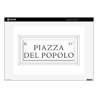 Piazza del Popolo, Rome Street Sign Laptop Skins