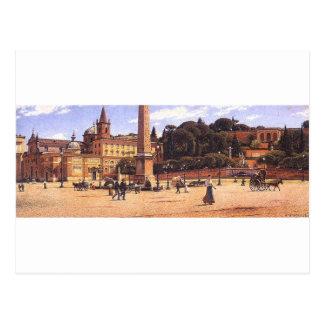 Piazza del Popolo w Rzymie by Aleksander Gierymski Postcard