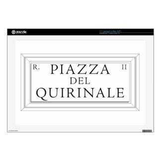Piazza del Quirinale, Rome Street Sign Skins For Laptops