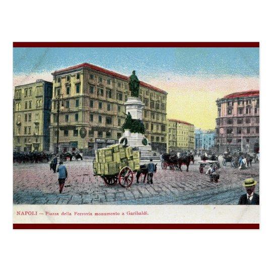 Piazza della Ferrovia, Naples, Italy Postcard