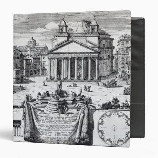 Piazza della Rotonda with a view of Pantheon 3 Ring Binder