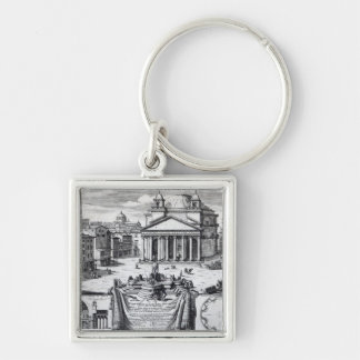 Piazza della Rotonda with a view of Pantheon Keychain
