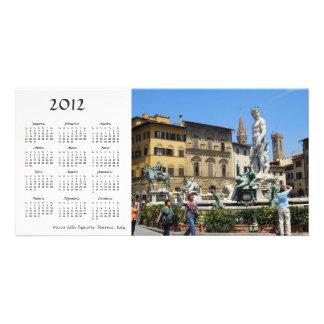 Piazza della Signoria 2012 Calendar Photo Card