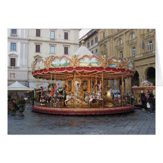 Piazza della Signoria carousel greeting card