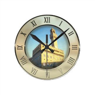 Piazza della Signoria, Florence, Italy Round Clock