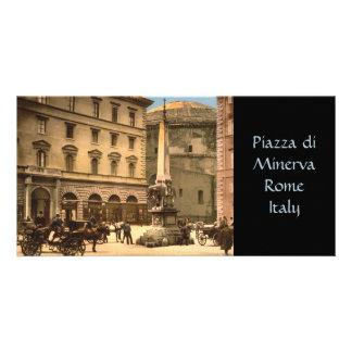 Piazza di Minerva Rome Italy Custom Photo Card