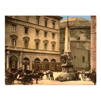 Piazza di Minerva, Rome, Italy Postcard