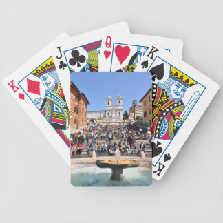 Piazza di Spagna, Rome, Italy Bicycle Playing Cards
