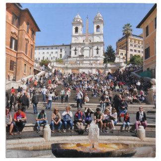 Piazza di Spagna, Rome, Italy Cloth Napkin