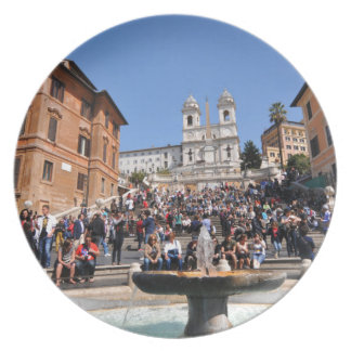 Piazza di Spagna, Rome, Italy Melamine Plate