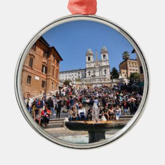 Piazza di Spagna, Rome, Italy Metal Ornament