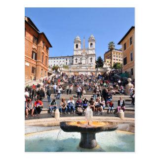 Piazza di Spagna, Rome, Italy Postcard