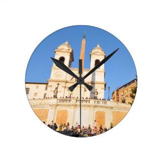 Piazza di Spagna, Rome, Italy Round Clock