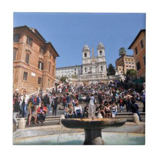 Piazza di Spagna, Rome, Italy Tile