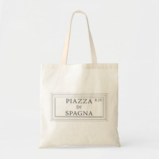 Piazza di Spagna, Rome Street Sign Budget Tote Bag