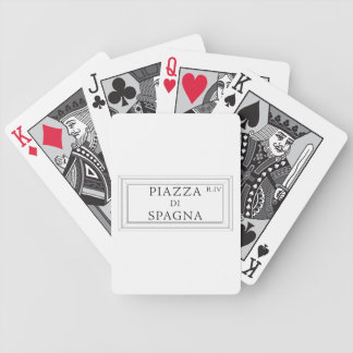 Piazza di Spagna, Rome Street Sign Bicycle Playing Cards
