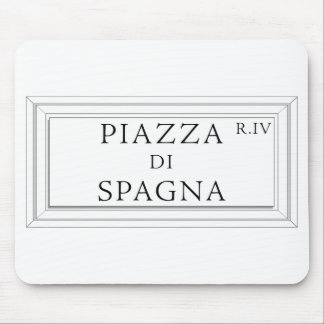 Piazza di Spagna, Rome Street Sign Mouse Pad