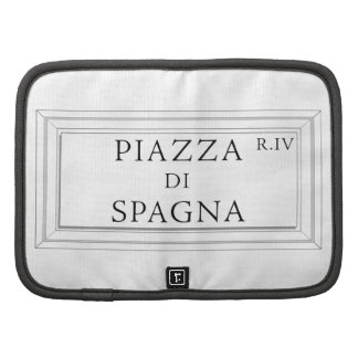 Piazza di Spagna, Rome Street Sign Folio Planners
