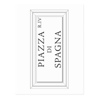 Piazza di Spagna, Rome Street Sign Post Card
