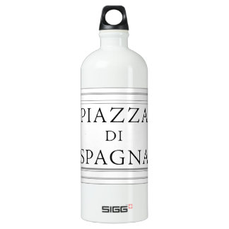 Piazza di Spagna, Rome Street Sign Water Bottle