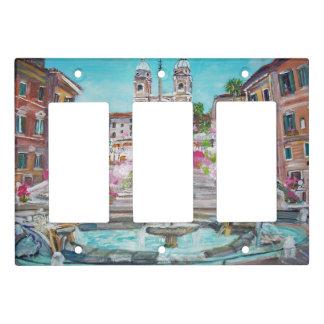 Piazza di Spagna, Triple Rocker Light Switch Cover