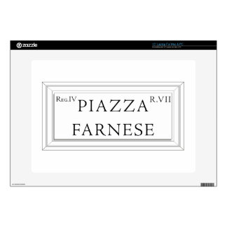 """Piazza Farnese, Rome Street Sign Skins For 15"""" Laptops"""