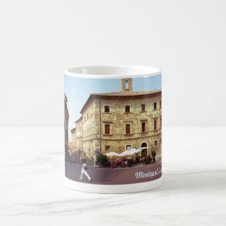 Piazza Grande in Bright Sun, Montepulciano, Italy Mugs