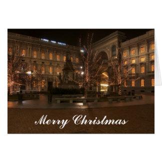 Piazza La Scala, Milan, Christmas Card