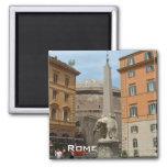 Piazza Minerva - Rome 2 Inch Square Magnet