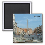 Piazza Navona - Rome 2 Inch Square Magnet