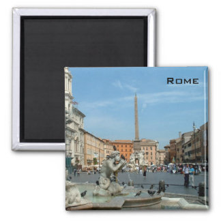 Piazza Navona - Rome 2 Inch Square Magnet