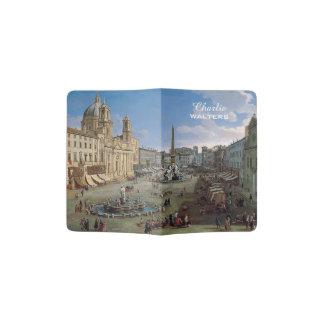 Piazza Navona, Rome art custom text passport cover Passport Holder