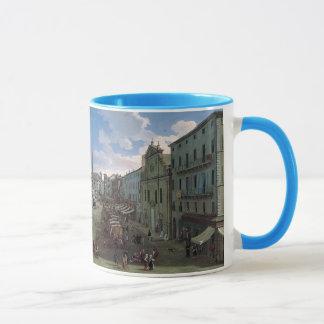 Piazza Navona, Rome art mugs