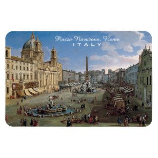 Piazza Navona, Rome custom art magnet