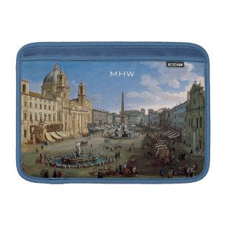 Piazza Navona, Rome custom monogram device sleeves MacBook Sleeves