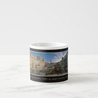 Piazza Navona, Rome custom monogram mugs