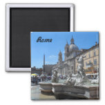 Piazza Navona- Rome, Italy 2 Inch Square Magnet