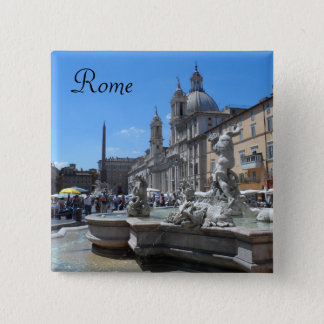 Piazza Navona - Rome, Italy Button