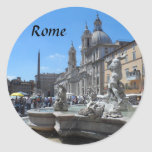 Piazza Navona- Rome, Italy Classic Round Sticker