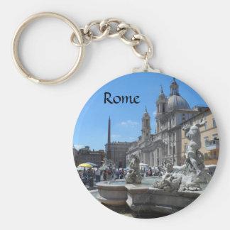 Piazza Navona- Rome, Italy Keychain